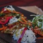 Salata calda cu orez si portocale …o nostalgie thailandeza
